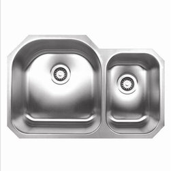 Whitehaus - Whitehaus Whndbu3120 Noah's Double Bowl Sink - Double bowl undermount sink