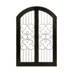 iMax - Amelia Iron and Wood Gate - The Amelia iron and wood gate adds a Southern or English look to any indoor or outdoor area. Use indoors against a wall to add class to any space!