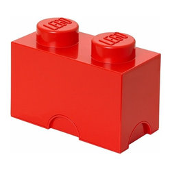 LEGO - LEGO MOVIE Storage Brick 2, Bright Red - Our 2 stud oversized LEGO Movie Storage Bricks in bright red are designed to stack, just like the original LEGO bricks. Use them to decorate, play, build and have fun or keep your toys sorted using them as storage boxes.