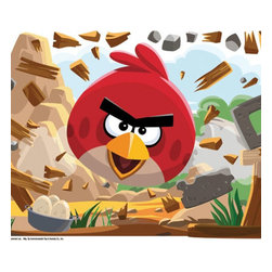 York Wallcoverings - Angry Birds Application Game Large Self-Stick Wall Accent - Features: