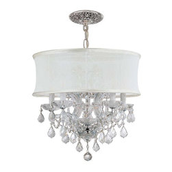 Crystorama Lighting - Crystorama Lighting 4415-CH-SMW-CLQ Brentwood Traditional Chandelier - Crystorama Lighting 4415-CH-SMW-CLQ Brentwood Traditional Chandelier In Polished Chrome With Swarovski Spectra Crystal