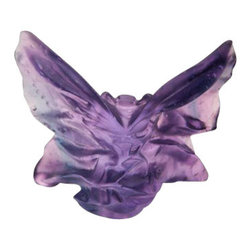Daum Crystal - Daum Crystal Butterfly Small Blue Purple 05334-2 - Daum Crystal Butterfly Small Blue Purple 05334-2 * FULLY AUTHORIZED DAUM DEALER * Size: 2.75 Inches High x 3.75 Inches Wide * Sculpted By: Hanae Mori * Made By Hand In France * Kiln Fired For 10 Days * Every piece is unique, no two Daum crystals are exactly alike. * Since 1878 Daum Crystal has been the ultimate in luxury.