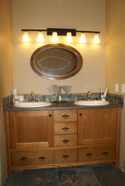 Traditional Bathroom by Generation Cabinets and Trish Becher Design