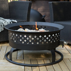 Bond Manufacturing - Bond 28 in. Portable Round Propane 55 000 BTU Campfire Fire Pit - 66602-SHINY BL - Shop for Fire Pits and Fireplaces from Hayneedle.com! So versatile and lightweight you'll use your Bond 28 in. Round Propane Campfire Fire Pit on your wood deck take it tailgating bring to campouts or to beach parties. A handsome and portable propane campfire style fire pit this one cranks out 55 000 BTUs. It features a sturdy steel frame uses a 20-pound external propane tank (not included) and comes with a locking lid. The pumice stones tank holder and 10-foot gas hose make it complete. The tank holder tray holds the propane tank so it won t tip over. About Bond Manufacturing This item is created by Bond Manufacturing which began operations as an importer of bamboo product over 50 years ago. While this heritage still remains a part of their business today Bond has transformed over the years into a leader within the outdoor consumer products category. Bond has earned its trust by always fully standing behind every product and program they present. Through efficient and cost-effective production they offer the balance of quality and value. Bond is committed to bringing you the very best in quality service value and innovation.