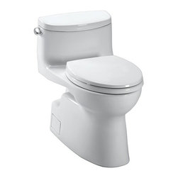 Toto - Toto | Carolina II One-Piece Toilet - Made by TOTO USA.The Carolina II One-Piece Toilet offers a sleek design and low-profile tank that will fit into any existing bathroom motif. This premium TOTO toilet features top-of-the-line functionality and materials that are built to withstand daily use. Comes complete with a softclose toilet seat. Features: