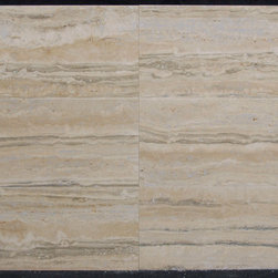 "Silver Travertine Tiles - Silver Travertine 12"" x 24"" - Vein Cut - Filled & Polished"
