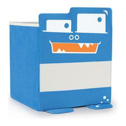 P'kolino - P'kolino Mess Eaters Cube Shelf Storage Bins, Blue - Playful Personalities that will Liven Up Boring Shelves!