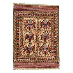 eSaleRugs - 6' 4 x 8' 9 Pictorial Sumak Rug - SKU: 22139335 - Hand Woven Pictorial Sumak rug. Made of 100% Wool. Brand New.