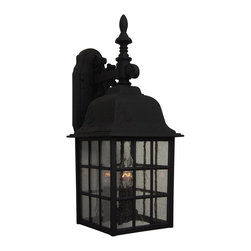 Exteriors - Exteriors Cast Aluminum Grid Cage Outdoor Wall Sconce - Large X-50-075Z - Decorating with style is simple with this large, three-light, 21-inch-tall Craftmade Cast Aluminum Grid Cage Outdoor Wall Sconce. It's sure to stand out in any outdoor space, with its impeccably designed cast aluminum frame with seeded glass panels. It's a bold light fixture that no stylish home should be without.