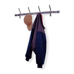 "Enclume - Hat & Coat Rack Hammered Steel - Dimensions: 36""W x 8""H x 4""D"
