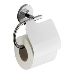 Gedy - Polished Chrome Toilet Roll Holder With Cover - Simple wall hung toilet roll holder/toilet paper holder with cover.