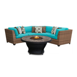 TKC - Tuscan 4 Piece Outdoor Wicker Patio Furniture Set 04d 2 for 1 Cover Set - Features: