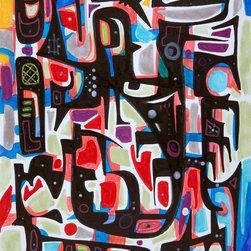 Kourosh Amini - Muscle Solaire Wall Mural, 7'5'' H X 6'2'' W, Quikstik Plus - Muscle Solaire