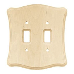Liberty Hardware - Liberty Hardware 64631 Wood Scalloped WP Collection 5.35 Inch Switch Plate - A simple change can make a huge impact on the look and feel of any room. Change out your old wall plates and give any room a brand new feel. Experience the look of a quality Liberty Hardware wall plate. Width - 5.35 Inch, Height - 5.8 Inch, Projection - 0.3 Inch, Finish - Unfinished Wood, Weight - 0.3 Lbs.