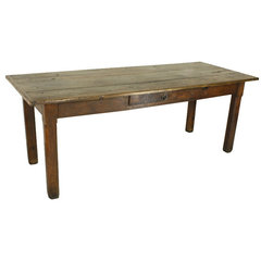 Early Oak French Country Farm Table at 1stdibs