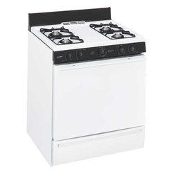 "Hotpoint - Gas Range Batt IGN, 30"", White - Extra-large oven capacity"