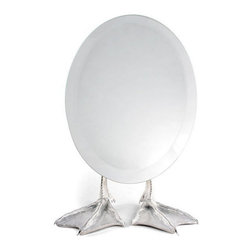 Inova Team -Duck Mirror - This surrealist inspired mirror features an egg shape face and two duck feet.