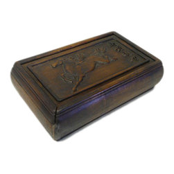 Golden Lotus - Hcs696-5 Chinese Huali Rosewood Handcrafted Storage Box - This is a decorative box made of Huali rosewood and crafted into rectangular shape with pull out lid.