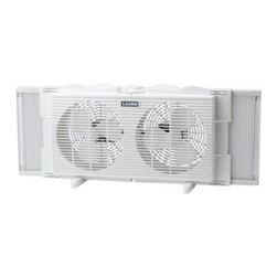 "Lasko Products - 7"" Twin Window with Fan 2 Speed - Features:"