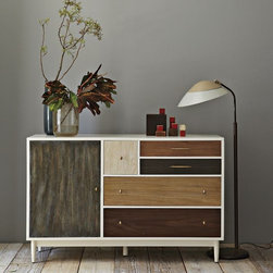 Patchwork Dresser - This storage piece from West Elm almost looks like an amazing vintage find — except you would never find anything quite this cool in a vintage shop. You could use this in your bedroom, but it's just as well suited for use as an entertainment center in the living room or den.