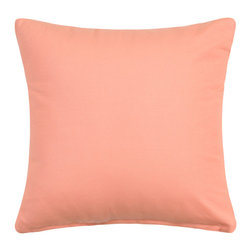 "silver Fern Decor - Solid Apricot / Pale Peach Accent Throw Pillow Cover, 20""x20"" - - Available in 16""x16"", 20""x20"",24""x24"",12""x20"""