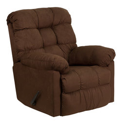 Flash Furniture - Contemporary Sienna Chocolate Microfiber Rocker Recliner - Great looks and extreme microfiber comfort come to mind when you sit in this quality made rocker recliner. Its style works well with any decor, and it delivers everything you expect in a piece of home furniture, all at a great value.