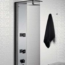 Contemporary Tile White Convex - Dune - 6x24 ceramic tile