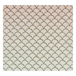Mission Stone Tile - Mini Curve Appeal - Ivory Limestone - Fan Shaped Mosaic, 1 Square Ft. - Sold by the square foot