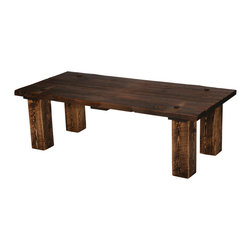 Rustic Heritage Barn Door Coffee Table - Rustic Heritage Barn Door Coffee Table - 65 lbs