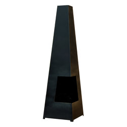 None - Cuba Chimenea - Ideal for entertaining all year round,this contemporary chimenea burns solid fuel and is the perfect addition to any patio or backyard. Constructed from heavy gauge steel,its angular,modern appearance is sure to create an inviting space.