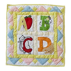 Patch Quilts - ABC Toss Pillow - -Constructed of 100% Cotton  -Machine washable; gentle dry  -Made in India Patch Quilts - TPABC