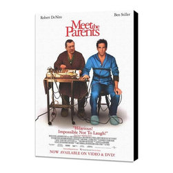 Meet the Parents 11 x 17 Movie Poster - Style B - Museum Wrapped Canvas - Meet the Parents 11 x 17 Movie Poster - Style B - Museum Wrapped Canvas. Amazing movie poster, comes ready to hang, stretched on canvas museum wrap canvas with color sides. Cast: DeHuff, Nicole