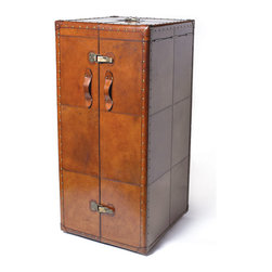 Traveling Wardrobe Trunk - Have fun with this stunning, multifunctional collector's piece based on the bygone era of postwar voyaging. Set up a creative standing wardrobe in your room for an edgy, bohemian look, or place in a separate dressing room for your favorite costumes or storage clothes. These days when traveling's as easy as hopping on a plane, we can be rest assured that our clothes are stored neatly and fashionably in a stationary vessel ready at a moment's notice.