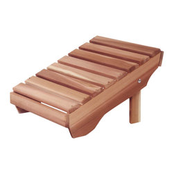 All Things Cedar - All Things Cedar AO21U Adirondack Ottoman - A Match For Our AA21U Adirondack Chair  - Convert Your Comfortable Chair Into A Comfortable Lounger    Dimensions:   20 x 24 x 14 in. (w x d x h)