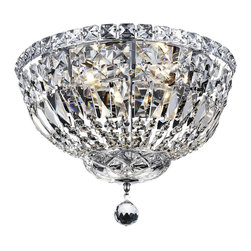 Elegant Lighting - Elegant Lighting 2528F14C/RC Tranquil Collection Flush Mount - Elegant Lighting 2528F14C/RC Tranquil Collection Flush Mount