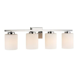 "Dolan Designs - Dolan Designs 3884 4 Light 7.75"" Height Bathroom Vanity Light - Illuminate your bath or powder room in the brilliant glow of this radiant 4 light vanity light featuring dazzling satin white glass.Features:"