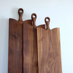 Walnut Rustic Serving Board/Cutting Board by Cattails Woodwork - I am in love with this rustic walnut serving/cutting board. It would take center stage with some colorful fruit and cheese on top. It also looks like it has been passed down for generations.