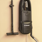 InterVac Design Corp. - GarageVac GH120-E Black Wall Mounted Garage Vacuum with Accessory - Accessory kit included: 40' stretch hose, bare floor tool, upholstery brush, crevice tool, dashboard brush, telescoping wand, hose hanger. long crevice tool