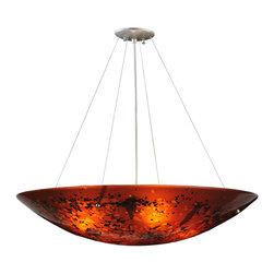 """Meyda Lighting - Meyda Lighting 115012 30""""W The Rock Fused Glass Inverted Pendant - Meyda Lighting 115012 30""""W The Rock Fused Glass Inverted Pendant"""