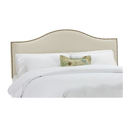 Home Decorators Collection - Custom Concord Upholstered Headboard - With its beautiful shape, soft and plush fabric and nail head detailing, our Custom Concord Upholstered Headboard will add the perfect amount of personalization and style to your bedroom. Select from a wide range of beautiful, top-quality fabric options to create a piece that you are sure to love. Includes hardware to attach to most standard bed frames. Assembled to order in the USA and delivered in 4-6 weeks. Spot clean only.