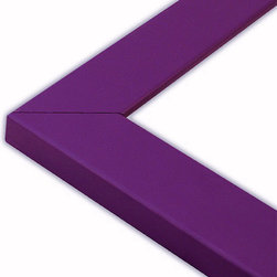 The Frame Guys - Flat Purple Picture Frame-Solid Wood, 10x20 - *Flat Purple Picture Frame-Solid Wood, 10x20