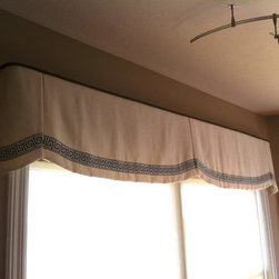 Top Treatment Ideas - Custom valance with pleats and curves to add some softness.