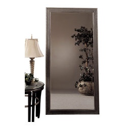 Bassett Mirror - Silver Leaf Beveled Rectangle Floor Mirror - Silver Leaf with Bevel Rectangle Leaner. Measures: 39 in. W x 77 in. H. Weight: 54 lbs