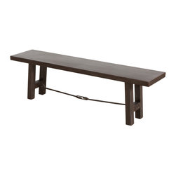 Iron Turnbuckle Bench - Product Features: