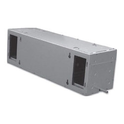 Vinotemp - Split System Wine Cellar Cooling Unit - Wall mounted. Made from metal. Gray color. Coverage size: good for 250 cu. ft. or approximately 1200 bottles. Includes outdoor enclosure. Assembly required. Custom made: 2 to 3 weeks lead time. Fan coil specs: 115V/60Hz, .77A, 26 lbs.. Fan coil: 30 in. W x 11.13 in. D x 11.38 in. H. Condensing unit specs: 115V/60Hz, 5.7A, UL listed, 40 lbs.. Condensing unit: 18 in. W x 12 in. D x 14 in. H. Can be placed up to 50 feet away from the fan coil to allow for extremely quiet operation. WarrantyYou can easily install them inside a wine rack or between two ceiling joists. They are an ideal choice for small and medium wine rooms.