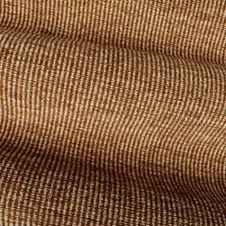Static Upholstery Fabric in Brown - Static Upholstery Fabric in Brown: A brown and beige striped chenille fabric with a great texture and neutral color way perfect for upholstering projects. American made with 58% rayon, 25% cotton, and 16% linen and a width of 54″. Cleaning Code: S.