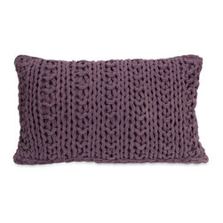 IMAX - Mailie Purple Crochet Pillow - - Inspired by your favorite chunky knit sweater, the Mailie purple crochet pillow adds a soft touch to any decor.  - Materials: 100% Cotton  - Country of Orgin: China IMAX - 42149