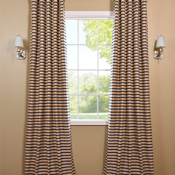 Blue & Taupe Hand Weaved Cotton Curtain - The Hand Weaved Cotton curtains & drapes add a casual and warm look to any window. These drapes are tailored from the finest hand loomed cotton blend