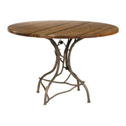 Rustic Pine Breakfast Table by Stone County Ironworks - Dimensions: