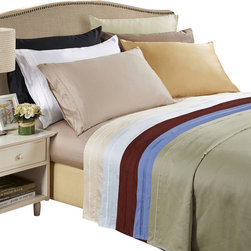 Bed Linens - Egyptian Cotton 650 Thread Count Solid Sheet Sets King Light Blue - 650 Thread Count Solid Sheet Sets
